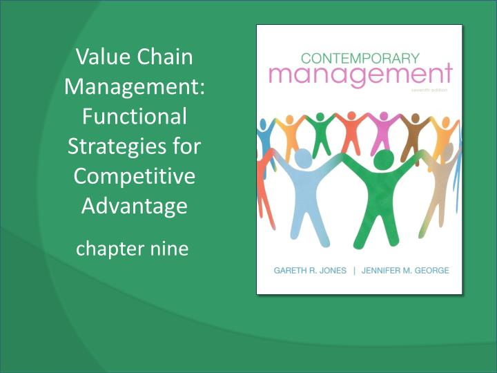 value chain management functional strategies for competitive advantage n.