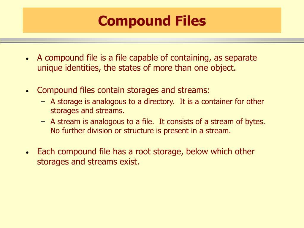 Compound Files