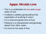 agape altruistic love