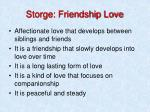 storge friendship love
