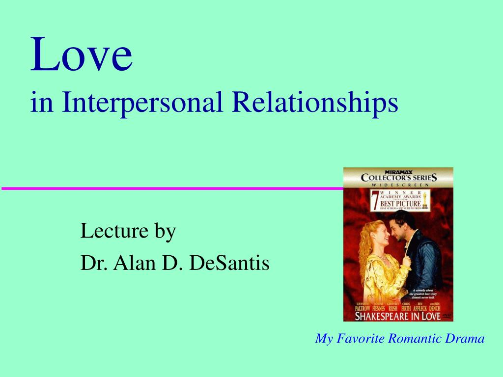 love in interpersonal relationships l.