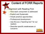 content of fcrr reports6