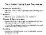 coordinated instructional sequences41