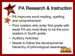 pa research instruction