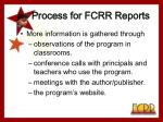 process for fcrr reports10
