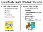 scientifically based reading programs