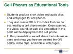 cell phones as educational tools