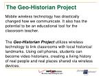 the geo historian project