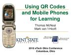 using qr codes and mobile phones for learning