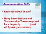 communication cells49