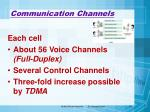 communication channels23