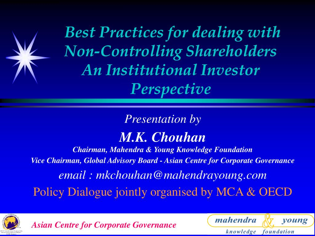 PPT - Best Practices for dealing with Non-Controlling Shareholders