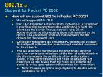 802 1x 2 support for pocket pc 2002