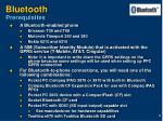 bluetooth prerequisites