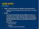 gsm gprs overview