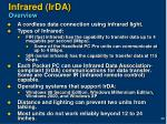 infrared irda overview