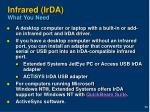 infrared irda what you need