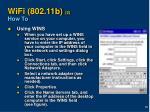 wifi 802 11b 2 how to