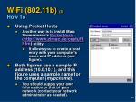 wifi 802 11b 3 how to