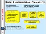 design implementation phases 6 13