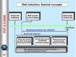 risk reduction general concepts