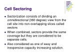 cell sectoring