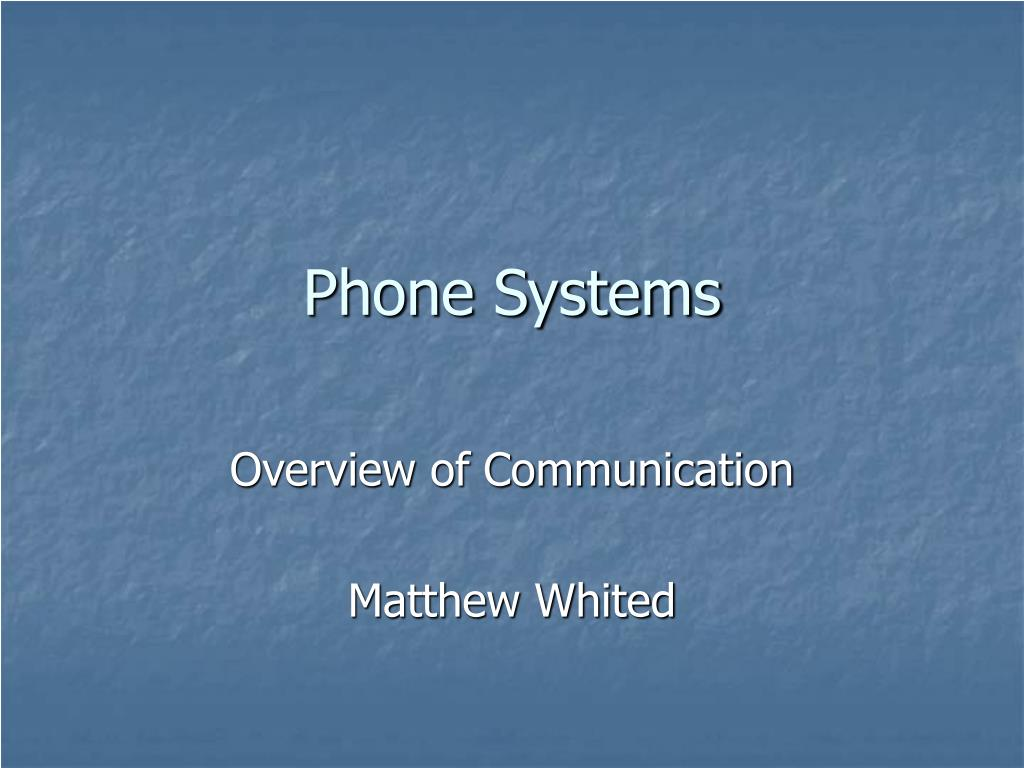 phone systems l.