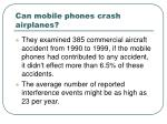 can mobile phones crash airplanes13