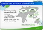 nokia devices the mobile internet leaders