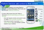 platform services add context to web content