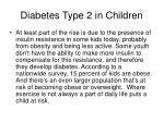 diabetes type 2 in children