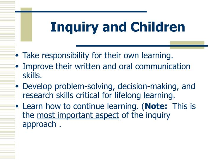 Inquiry and Children