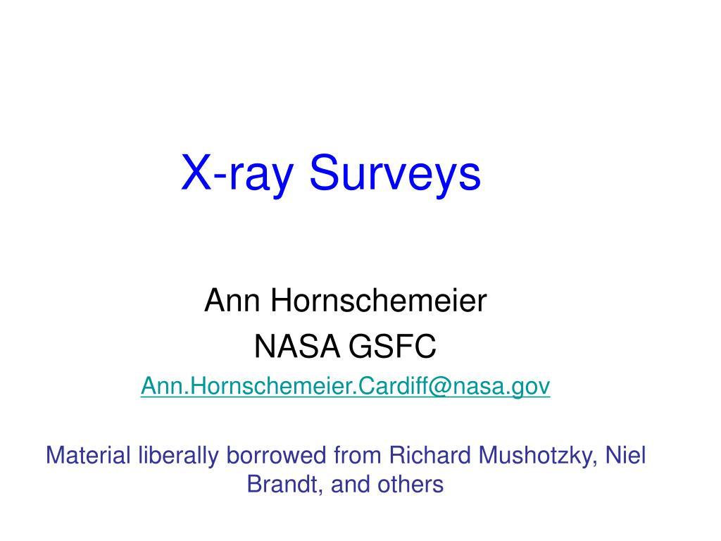 x ray surveys l.