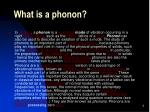 what is a phonon