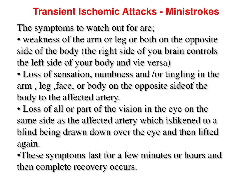 Transient Ischemic Attacks - Ministrokes