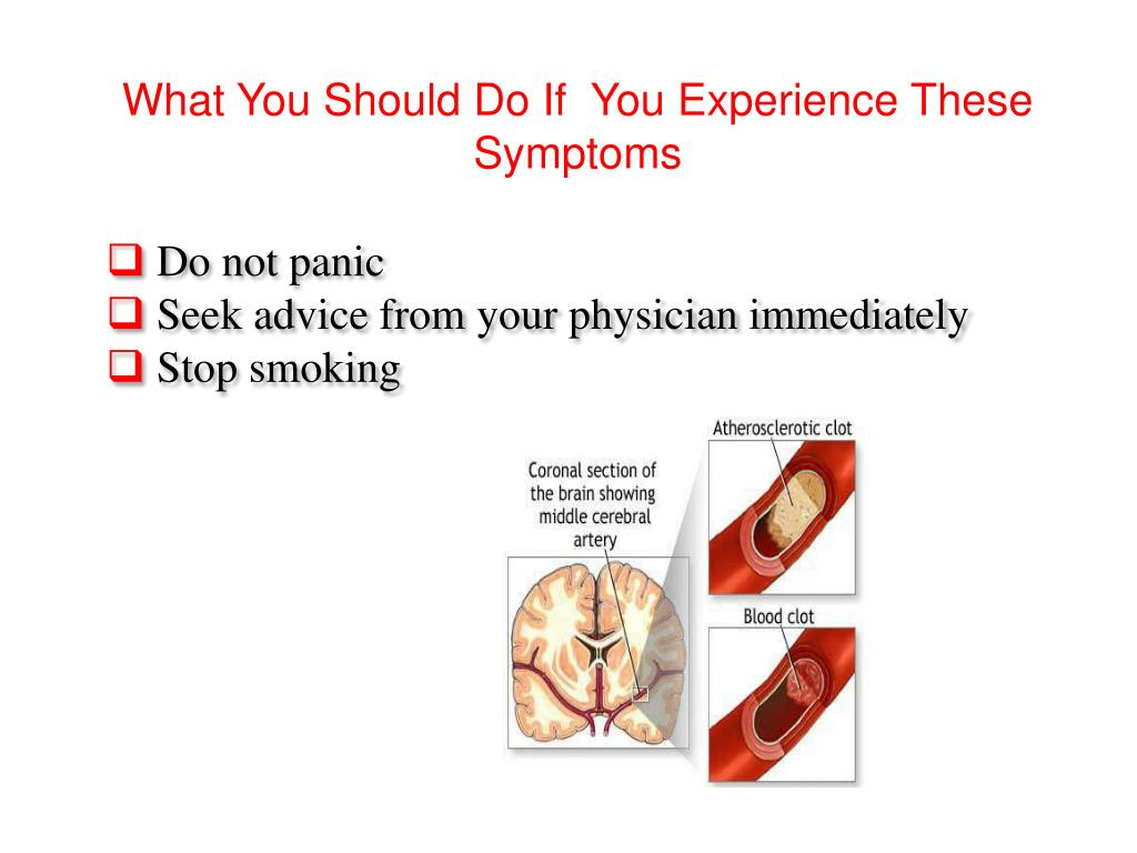 What You Should Do If  You Experience These Symptoms