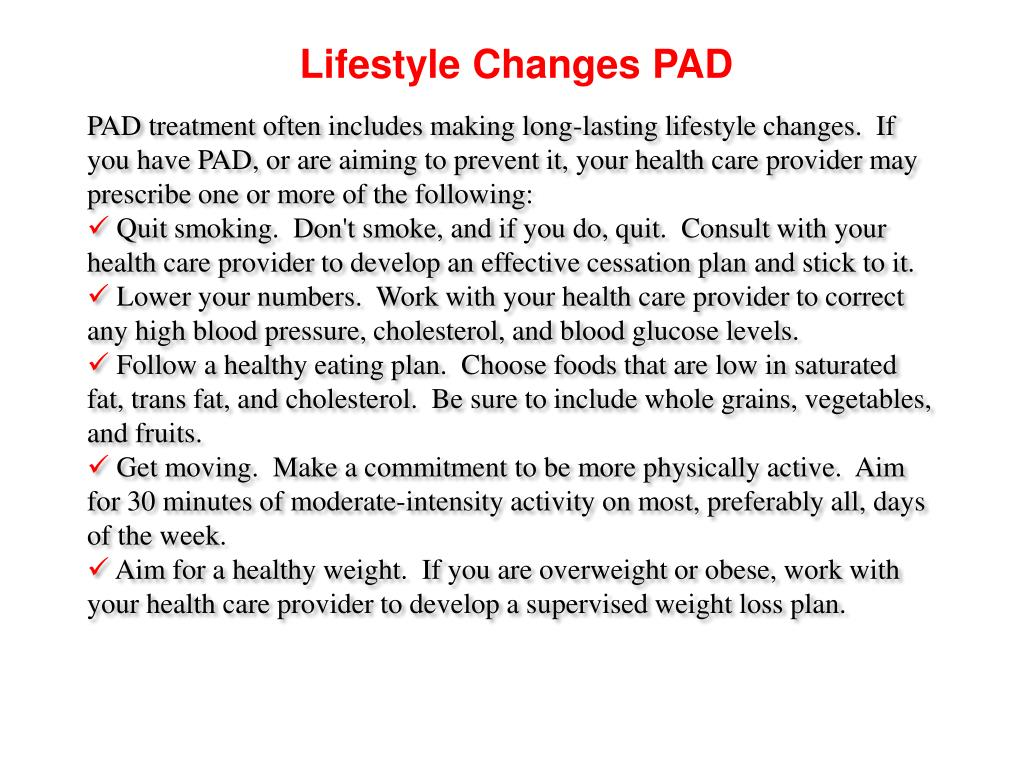Lifestyle Changes PAD