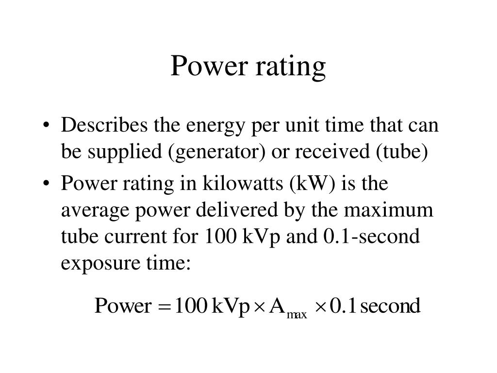 Power rating