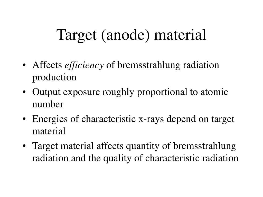 Target (anode) material
