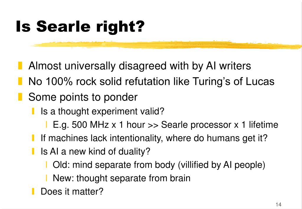 Is Searle right?