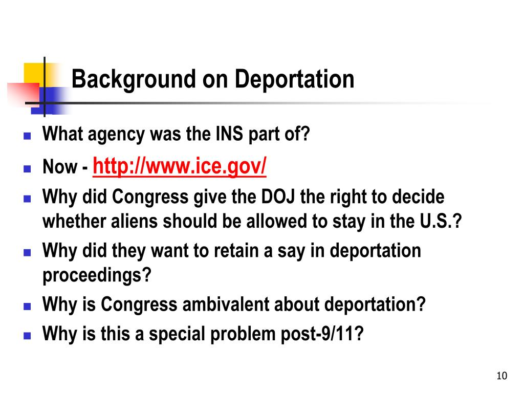 Background on Deportation