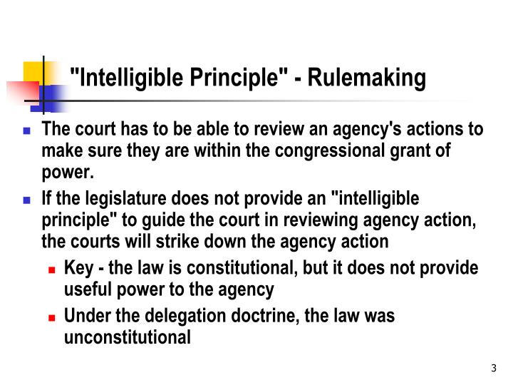 Intelligible principle rulemaking