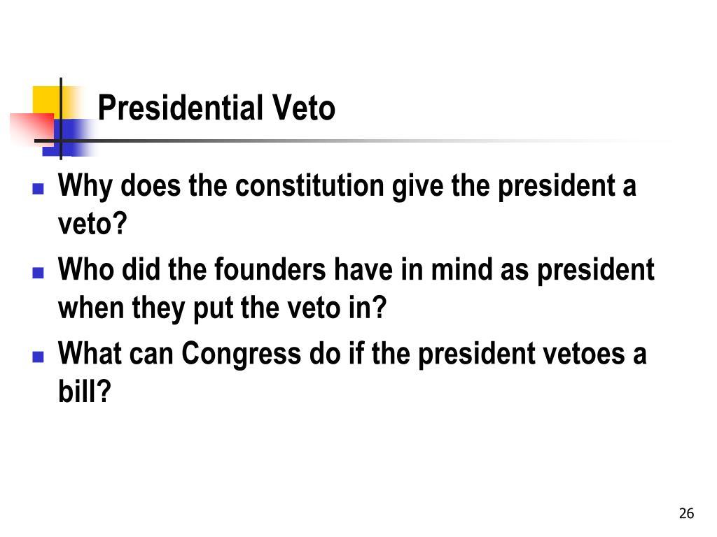 Presidential Veto