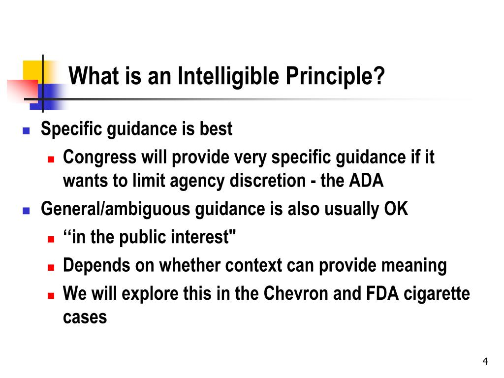 What is an Intelligible Principle?