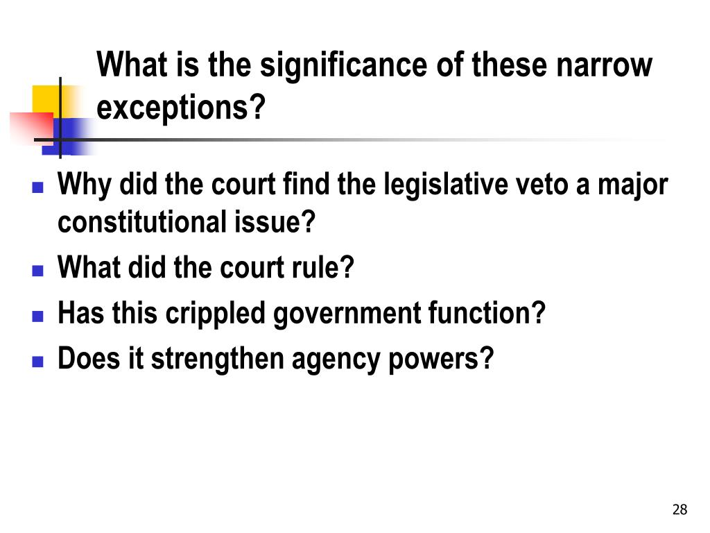 What is the significance of these narrow exceptions?