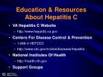 education resources about hepatitis c