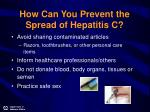 how can you prevent the spread of hepatitis c18