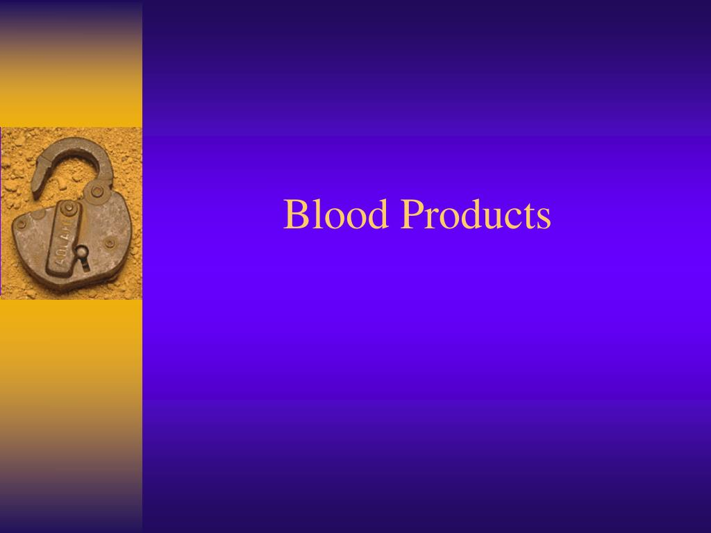 blood products l.