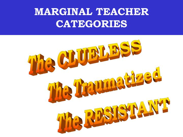 Marginal teacher categories