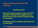 tests and monitoring in hiv infection17
